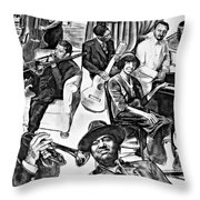 In Praise Of Jazz II Throw Pillow