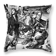 In Praise Of Jazz Iv Throw Pillow