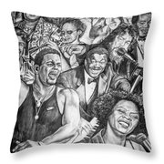 In Praise Of Jazz Throw Pillow by Steve Harrington