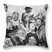 In Praise Of Jazz V Throw Pillow