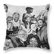 In Praise Of Jazz V Throw Pillow by Steve Harrington