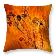 In Praise Of Weeds Throw Pillow