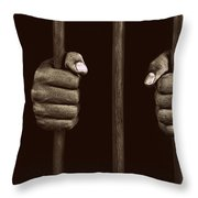 In Prison Throw Pillow