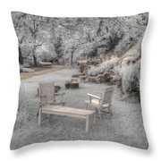 In Quiet Places Throw Pillow