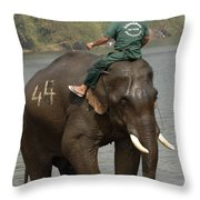 In Reverse Gear Throw Pillow by Bob Christopher