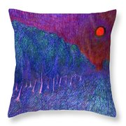 In Road Throw Pillow