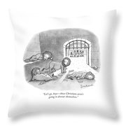 In Roman Stadium Throw Pillow