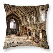 Faith In Ruins Throw Pillow