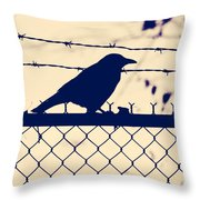 In Search For Worm Throw Pillow