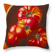 In Search Of The Perfect Tomato Throw Pillow