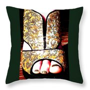 In Sequins Throw Pillow