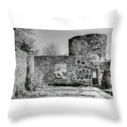 In Side The Boathouse Throw Pillow