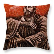 In The Arms Of Christ Throw Pillow