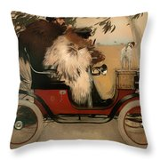 In The Automobile Throw Pillow