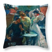 In The Bar Throw Pillow