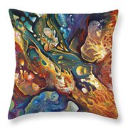 In The Beginning Throw Pillow by Ricardo Chavez-Mendez