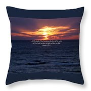 In The Beginning Throw Pillow