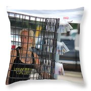 In The Bird Cage Throw Pillow