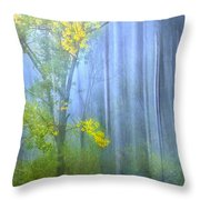 In The Blue Forest Throw Pillow