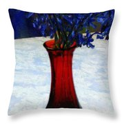 In The Blue Hour Throw Pillow