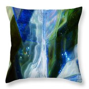 In The Blue Realm Throw Pillow