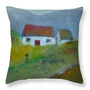 In The Bluestack Mountains Throw Pillow
