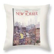 New Yorker March 2, 1968 Throw Pillow