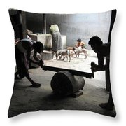 In The Buddha's Kitchen Throw Pillow