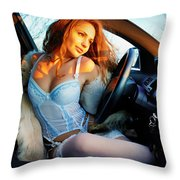 In The Car Throw Pillow