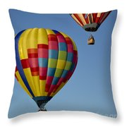 In The Clear Blue Skies Throw Pillow