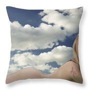 In The Cloud 1082 .02 Throw Pillow