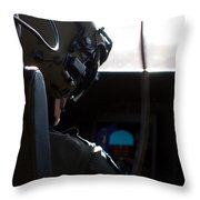 In The Cockpit Throw Pillow