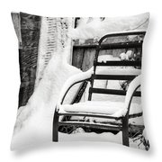 In The Cold Seat Throw Pillow