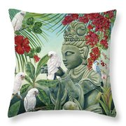 In The Company Of Angels Throw Pillow