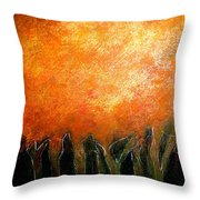 In The Dark Of The Wood Throw Pillow