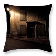 In The Dead Of Night Throw Pillow