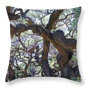 In The Depth Of Enchanting Forest II Throw Pillow