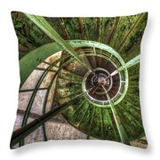 In The Eye Of The Spiral  Throw Pillow