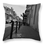 In The French Quarter Throw Pillow