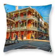 In The French Quarter - Paint Throw Pillow