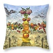 In The Garde Of Eden Throw Pillow