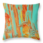 In The Garden Of Abstract Throw Pillow