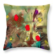 In The Garden  Square Throw Pillow