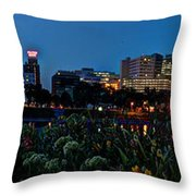 In The Glow Of Harrisburg Throw Pillow
