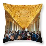 In The Hall Of Maps Throw Pillow