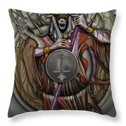 In The Halls Of The Mage-king Throw Pillow