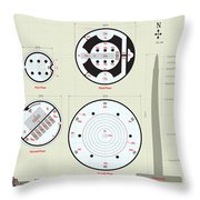 In The Halls Of The Mage-king Tower Levels Throw Pillow