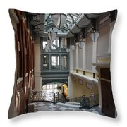 In The Hallway - Peabody Library Throw Pillow