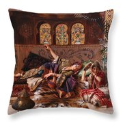 In The Harem Throw Pillow