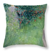 In The Hawthorn Hedge Throw Pillow